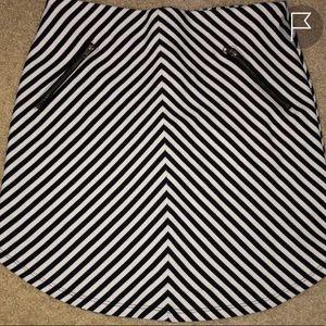 Monteau Striped Mini Skirt